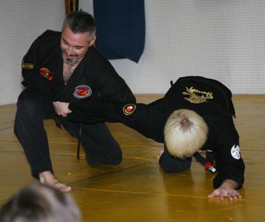 Master Pete executing an elbow break
