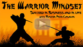get the warrior mindset and succeed in business and life as well as self-defense situations